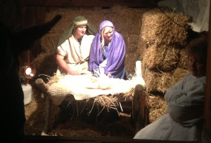 In Fountain Green nativity scene