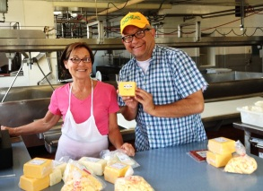 Buying Cheese and Curds at Union Star Cheese Factory in Zittau, Wisconsin