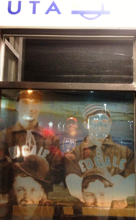 South Jordan Historic Sports Photograph Mural Reflection