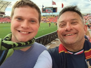 Kid and Dad: RSL Game July 2015