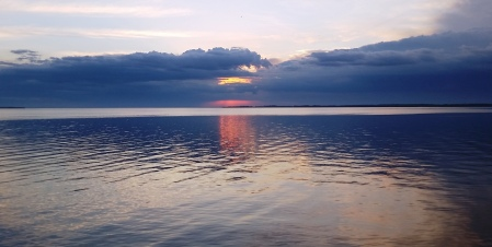 Purple rain Lake Winneconne sunset, April 2016, cloudy sunset, purple sunset